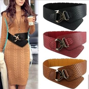 fashion womans waist belt leather snakeskin patter